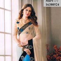 New Latest Exclusive Designer Half Half Saree