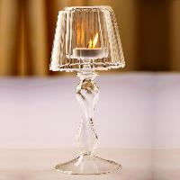table glass candle lamps