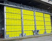 Side Sliding Paint Booth Doors