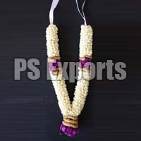 White & Purple Jasmine Flower Garland