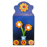 Wooden Wall Painting Letter Box