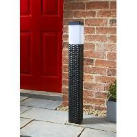 Venice Tall Solar Rattan Post Light