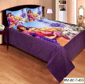 2 Pillow Covers Designer Barbie Moshi Kids Bedsheet