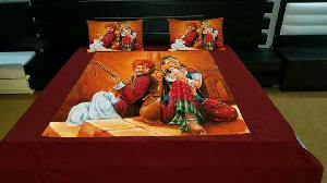 2 Pillow Covers Traditional Velvet Double Bedsheets