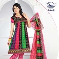 Bandhani Churidar Suit