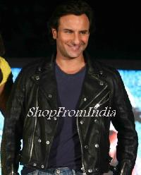 Custom Made Bollywood Star Saifali Khan Black Lamb Leather Jacket