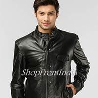Solid Black Leather Jacket
