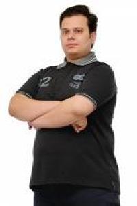 Half Sleeve Black Polo T Shirt