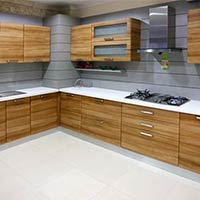 Wooden Modular Kitchen Furniture