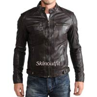 Mens Motorcycle Riding Leather Jacket