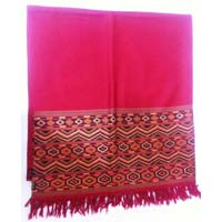 Shawl Wool Five Patti Traditional Bodh Design