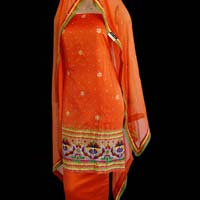 Banarasi Woven Embroidered Suit