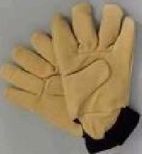 Leather Hand Gloves (Gold Finger Soft and Smooth leather)