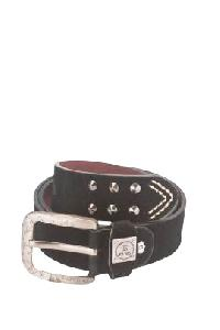 Trendy Black Leather Belt