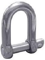 Stainless Steel European Type Large Dee Shackle Screw Pin Type