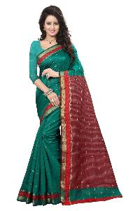 DESIGNER SAREE PURE COTTON SILK