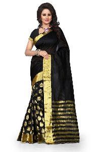 Pure Silk Saree (BLACK)