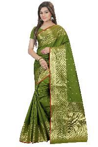 Silk Cotton Designer Saree