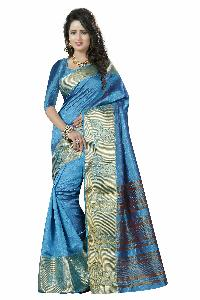 SILK SAREE WITH GOLDEN WORK
