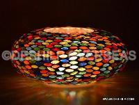 Glass Colofull Mosaic Candle Votive