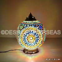 GLASS MOSAIC TABLE LAMP LIGHTS