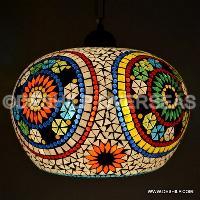 Multi Mosaic Hanging Lamp