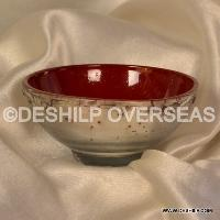 Silver Color Glass Bowl