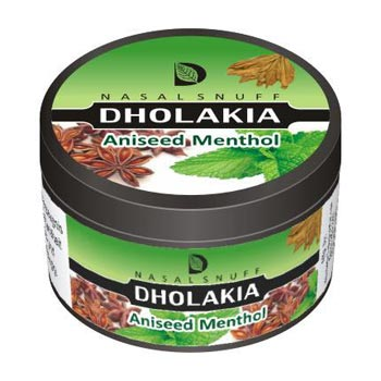25 gm Dholakia Aniseed Menthol Non Herbal Snuff