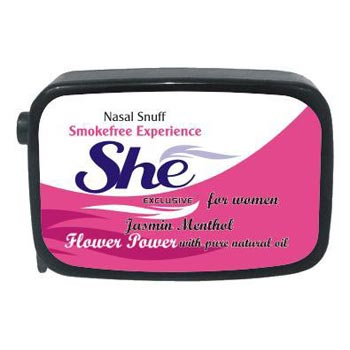 9 Gm She Jasmine Menthol Non Herbal Snuff