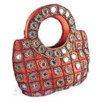 Silk Embroided Hand Bag