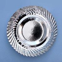 Silver Laminated Paper Dish