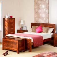 Sheesham Wood Bedroom Furniture Set