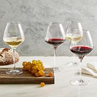 """the One"" Wine Glass Set, 2 Red, 2 White"