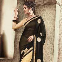 Black Designer Fancy Saree