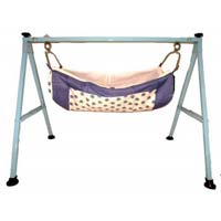 Blue Color Folding Baby Cradle