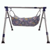 Stainless Steel Nri Round Pipe Folding Baby Cradle