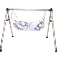 Stainless Steel Round Pipe Folding Baby Cradle