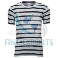 Mens Striped Round Neck T-shirts