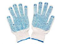 10 Gauze Seamless Pvc Dotted Gloves