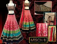 Cherry Pink Embroidered Lehenga