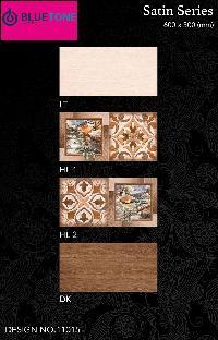 12x24 inch satin matt brown cream digital wall tiles