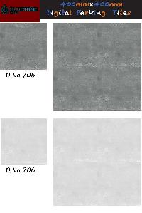 16x16 inch digital grey color parking tiles
