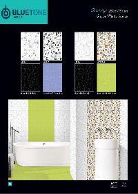 250x375 mm super black glossy digital wall tiles