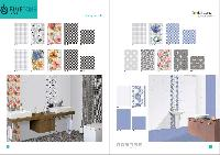 300x450 mm glossy digital wall tiles with sky color
