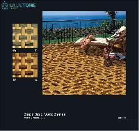 40x40 mm satin gold matt floor tiles
