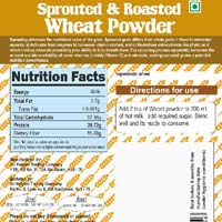 Sprouted and Roasted Wheat Powder