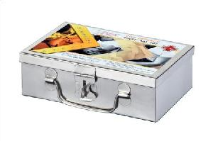 Civil Defence Stainless Steel First Aid Box
