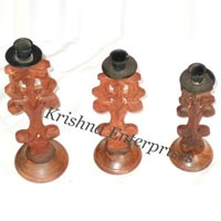 3set of Wooden Candle Stand