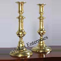 Brass Set Of Candle Stand