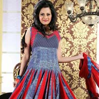 Cotton Printed Designer Anarkali Suit